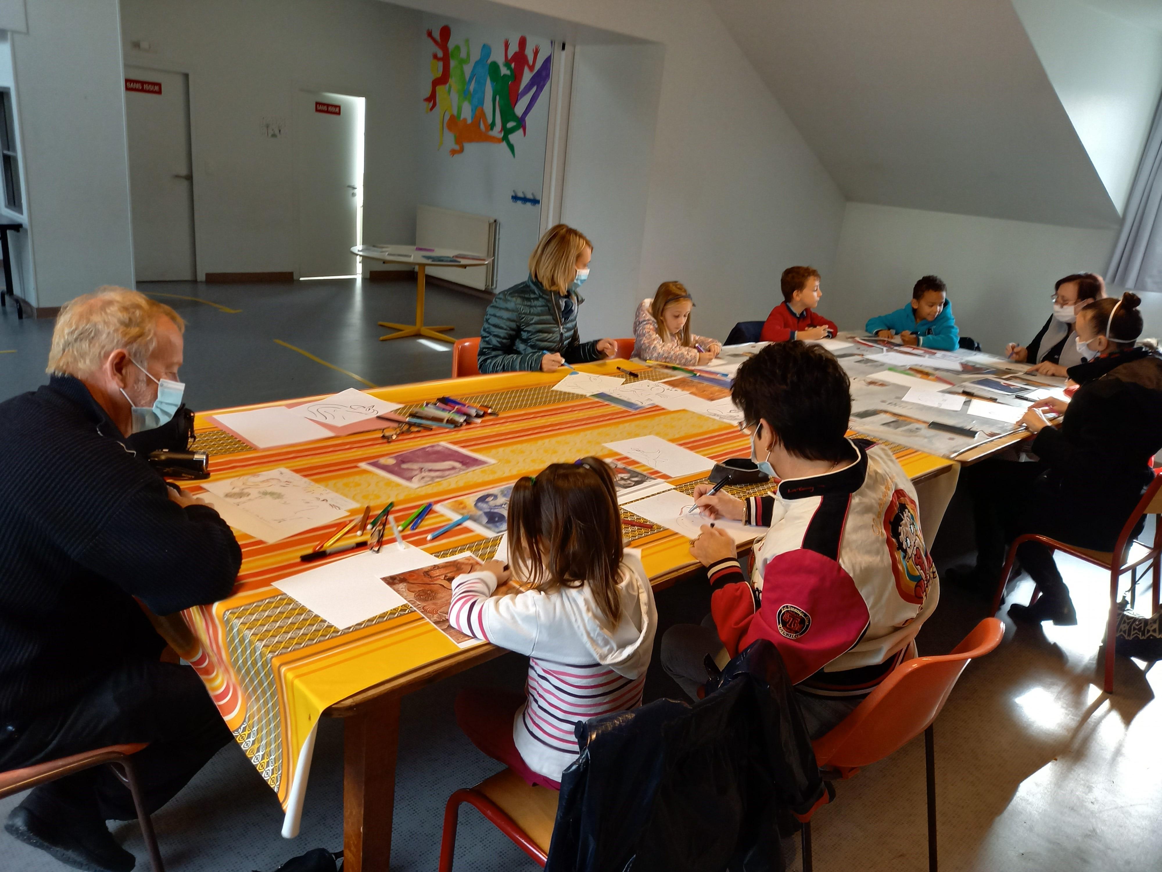 Atelier « À la manière de » Marc Chagall 1